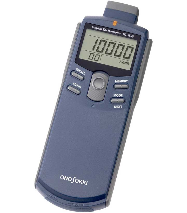 HT-5500 Dual Contact / Non-Contact type Tachometer with both analog and pulse output